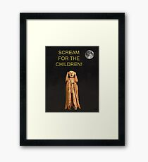 Scream For The Children Framed Print