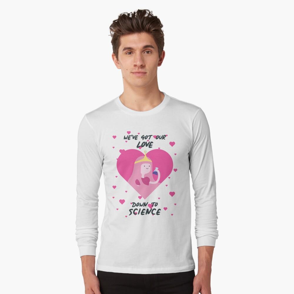Tenemos nuestro amor hasta la ciencia (Hora de aventura) Camiseta de manga larga