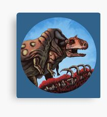 Dinosaur Cannibalism Canvas Print
