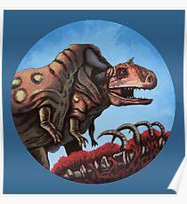 Dinosaur Cannibalism Poster