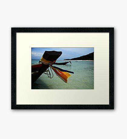 Thai Boat Framed Print