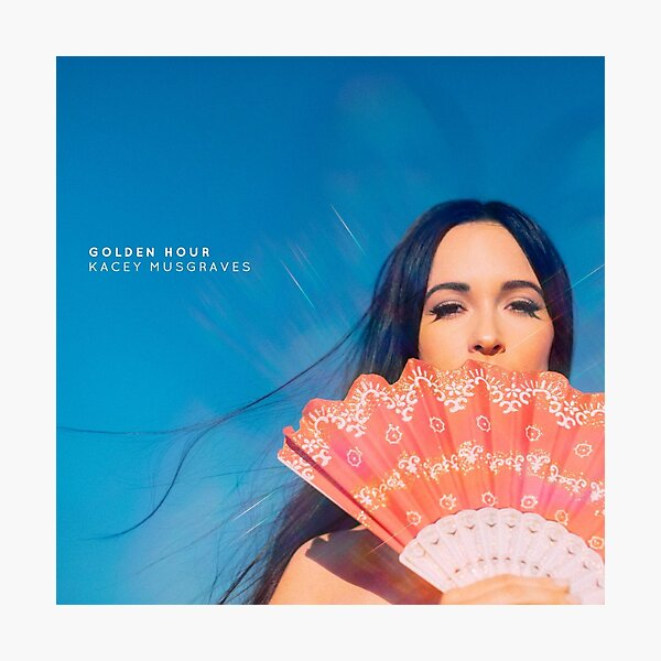 Kacey musgraves golden hour album cover Photographic Print