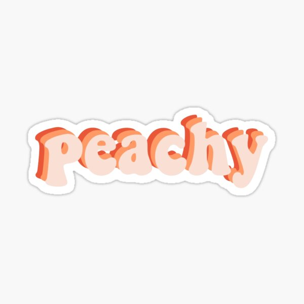 peachy sticker Sticker
