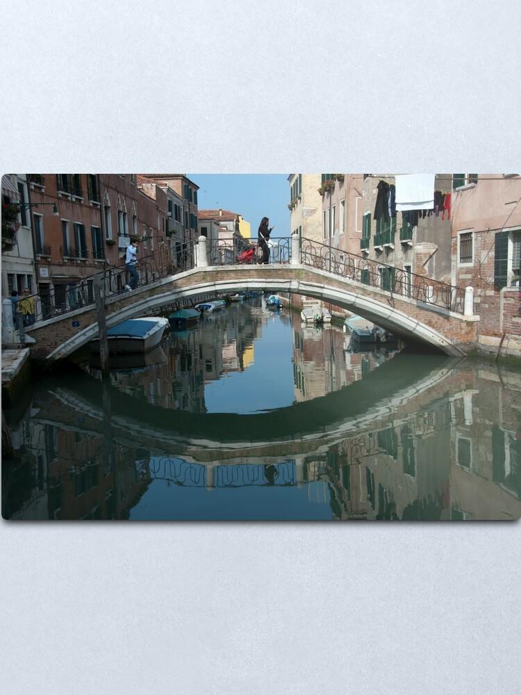 Alternate view of Crossing the Bridge, Venice, Italy Metal Print