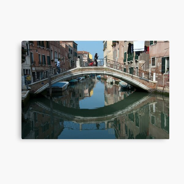 Crossing the Bridge, Venice, Italy Canvas Print