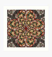 Splits elliptic Flower Art Print