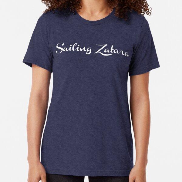 Sailing Zatara Logo - White Tri-blend T-Shirt
