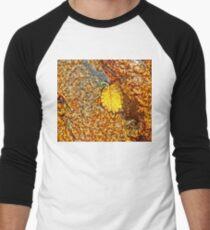 Premature Autumn Aspen Leaf Men's Baseball ¾ T-Shirt