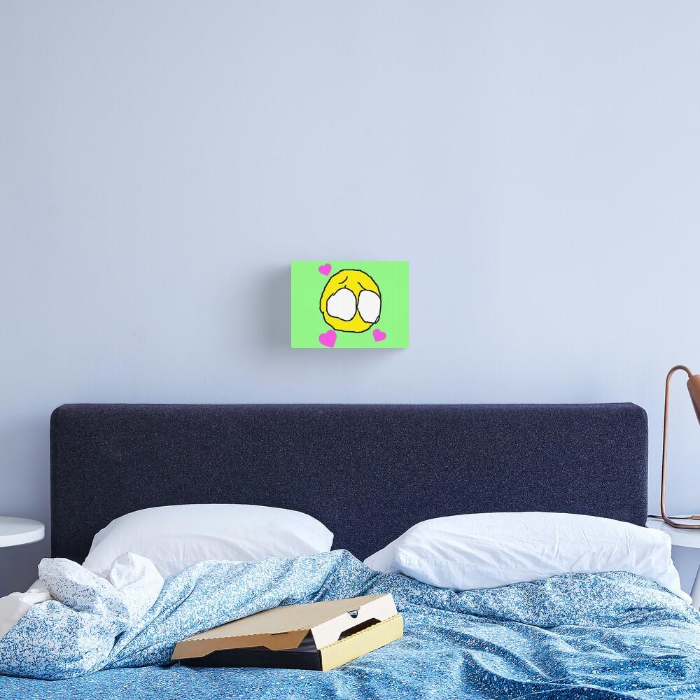 """""""Minimalistic Cursed Baby Eyes Emoji"""" Canvas Print By"""