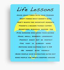 Life Lessons Metal Print