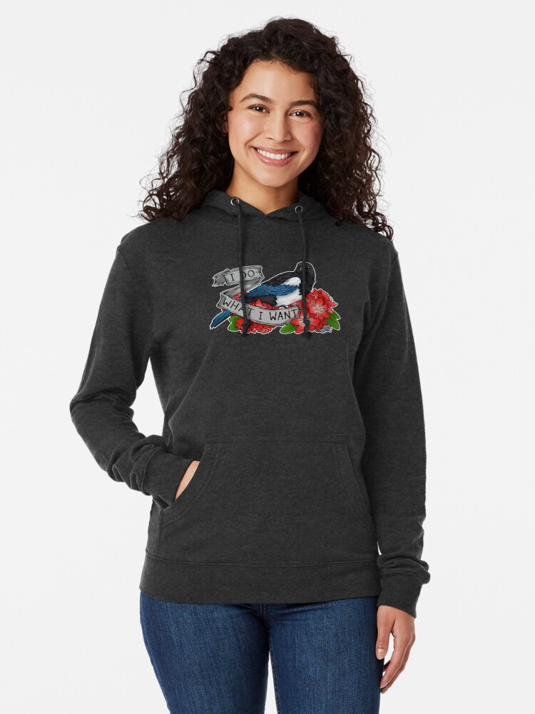 Alternate view of I Do What I Want Lightweight Hoodie