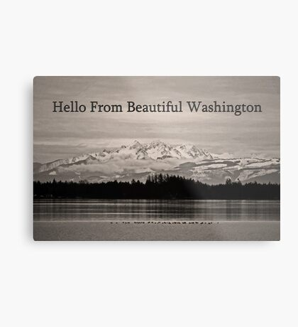 hello from beautiful washington Metal Print