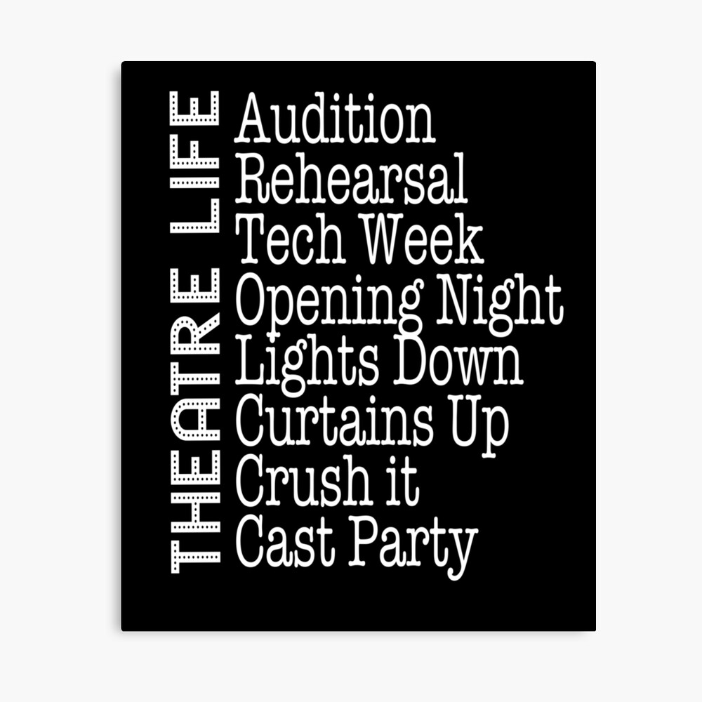 Funny Theatre Life Quote For Thespians Broadway Musical Lovers Throw Pillow By Bookeryboutique Redbubble