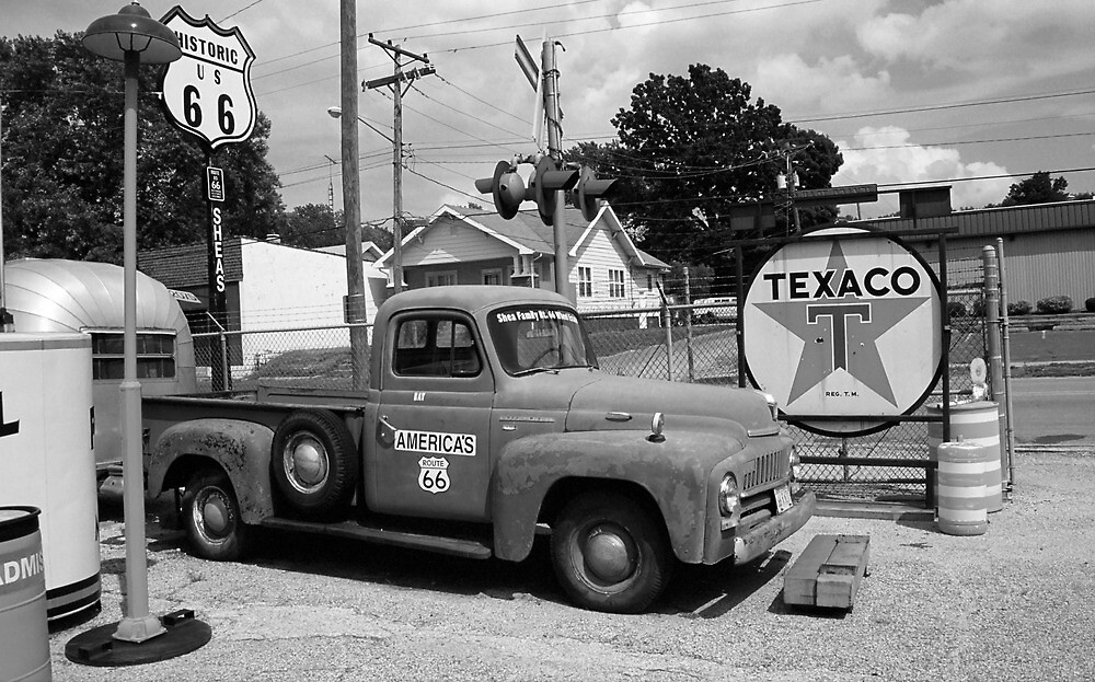 Quot Route 66 Shea S Gas Station Quot By Frank Romeo Redbubble