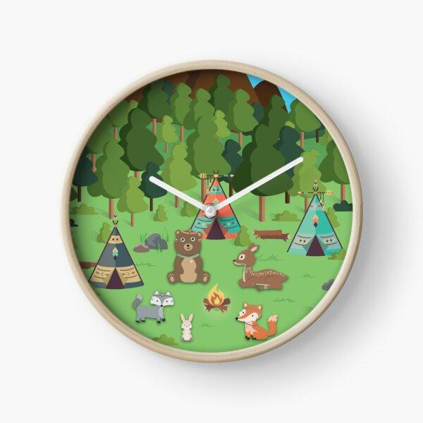 Woodland Friends Clock