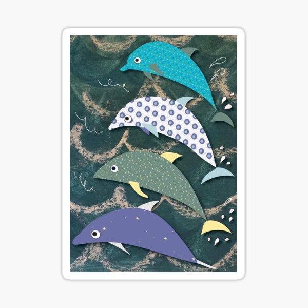 Delightful Dolphins Sticker