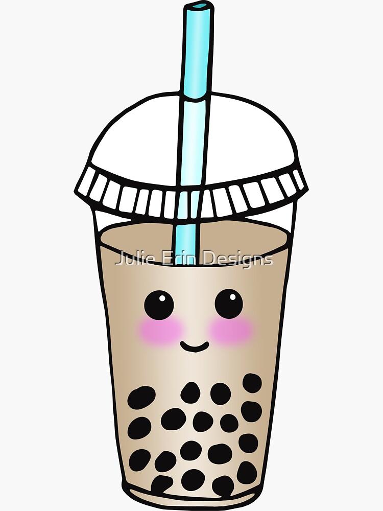 Cute Bubble Tea Happy Kawaii Boba by julieerindesign