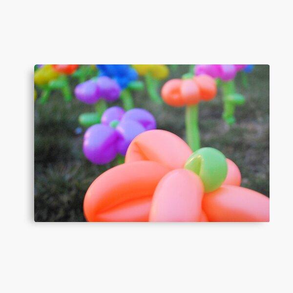 Balloon Flower Garden Metal Print