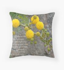 Acacia karroo Throw Pillow