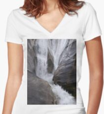 Waterfall Fitted V-Neck T-Shirt