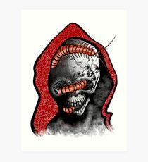 Seis Manos Skull  Art Print