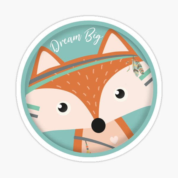 Felix Fox (Dream Big) Sticker