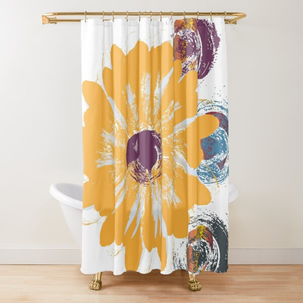 Sweet Grunge Flower Swag by Muse in Mind Design Shower Curtain