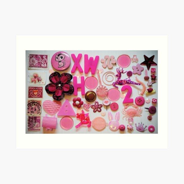 Pink Trinkets Art Print
