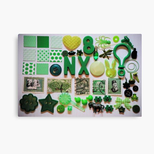 Green Trinkets Canvas Print