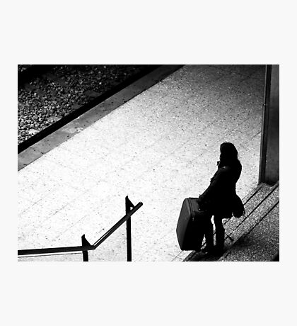 Every Journey starts with a step..And we all have baggage Photographic Print