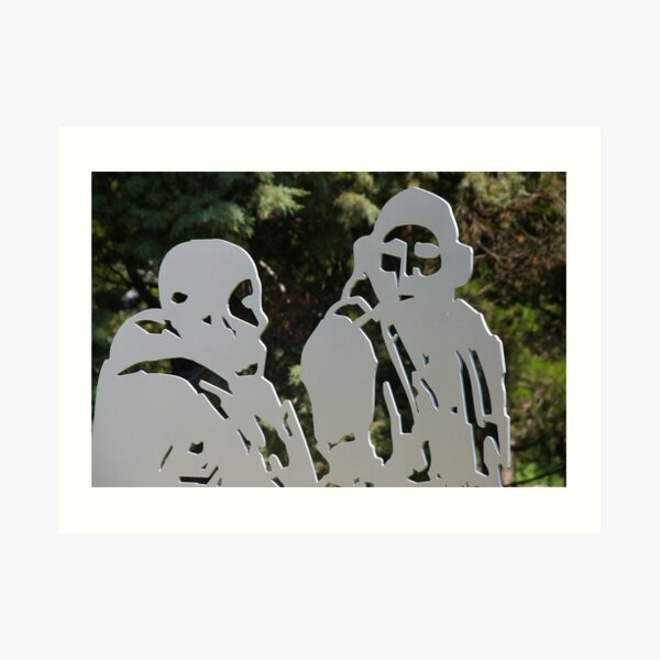 Ghosts In The Garden Art Print
