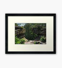 At Brimham Rocks Framed Print