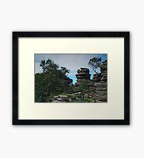 At Brimham Rocks 2 Framed Print