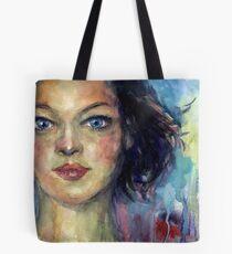Watercolor Woman portrait Svetlana Novikova Tote Bag