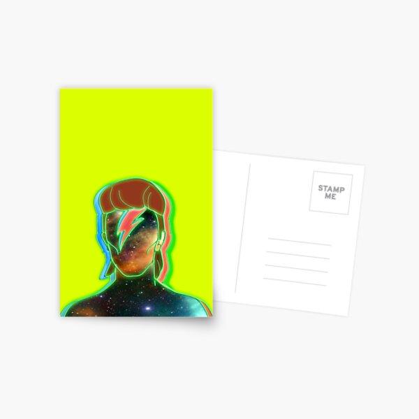 STARMAN/ Neon nostalgia tribute Postcard