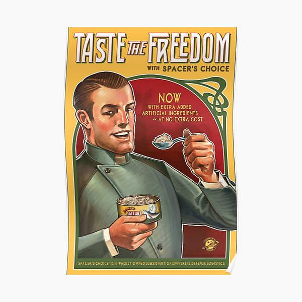 The Outer Worlds Taste the Freedom Poster