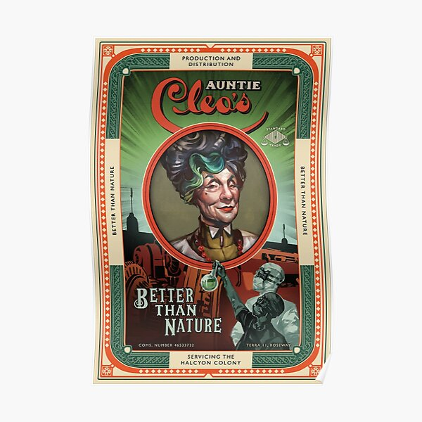 The Outer Worlds Auntie Cleo's  Better than Nature Poster