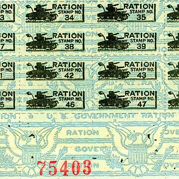 United States World War II Ration Coupons 1943 by CircaWhat