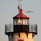 Lantern House, Eastern Point Light as Sunset by Steve Borichevsky