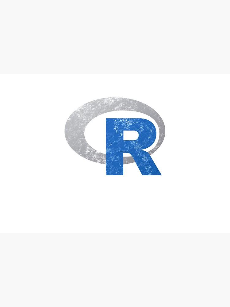 R logo programming Vintage Distressed design by farhanhafeez