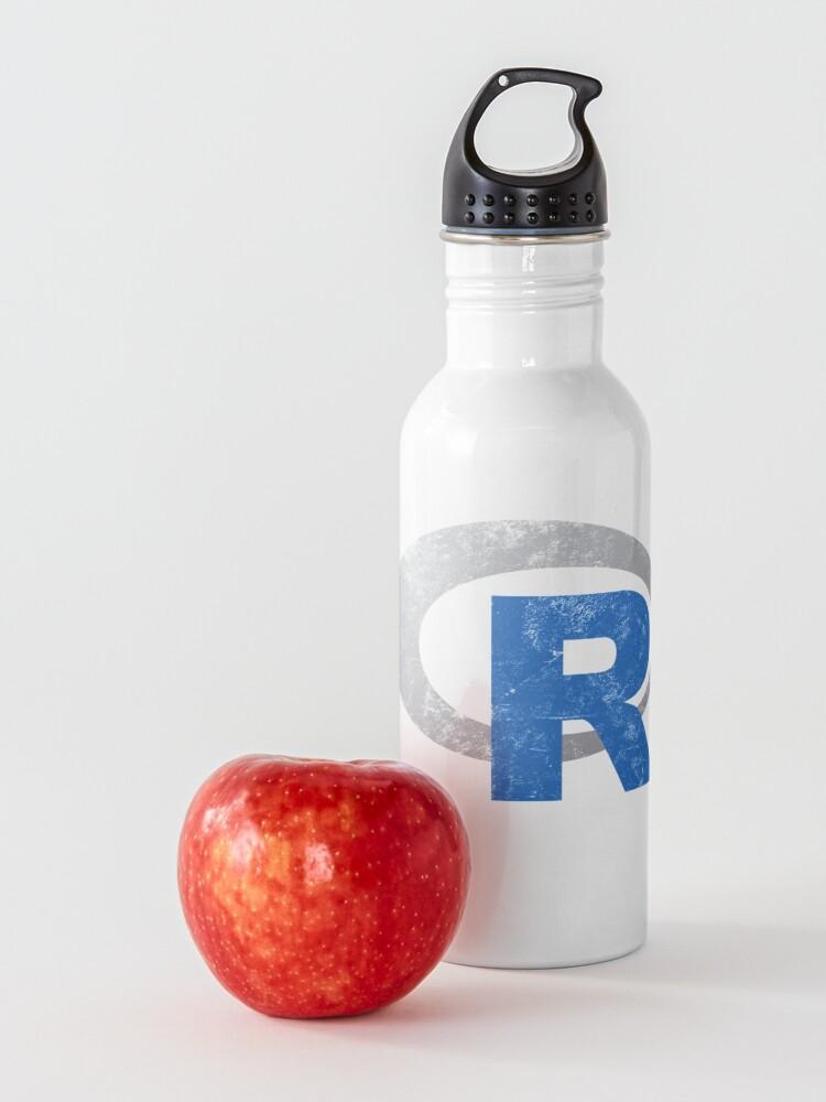 Alternate view of R logo programming Vintage Distressed design Water Bottle