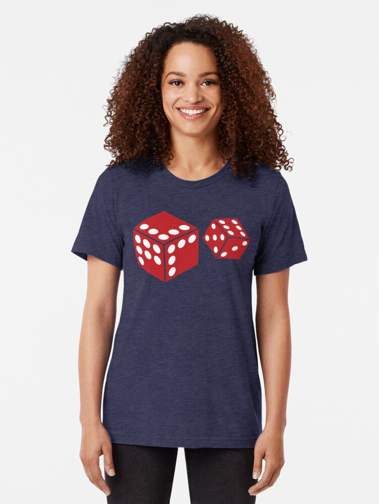 Alternate view of Let's Play Random Dice Logo Tri-blend T-Shirt