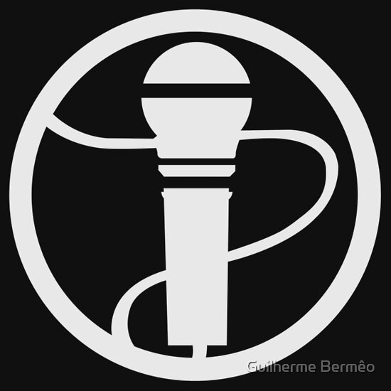 TShirtGifter presents: RockBand Instrument Symbol - Mic (Vocal)