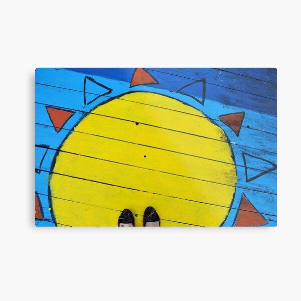 Sun Graffiti Metal Print
