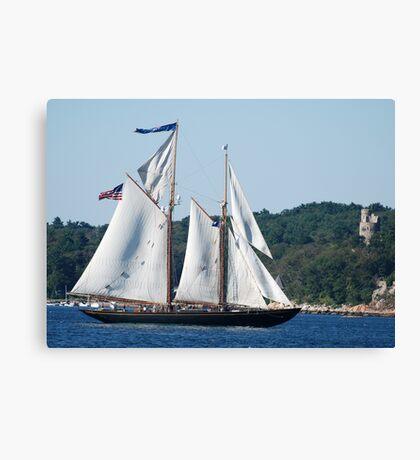 Schooner Virginia on Gloucester Harbor Canvas Print