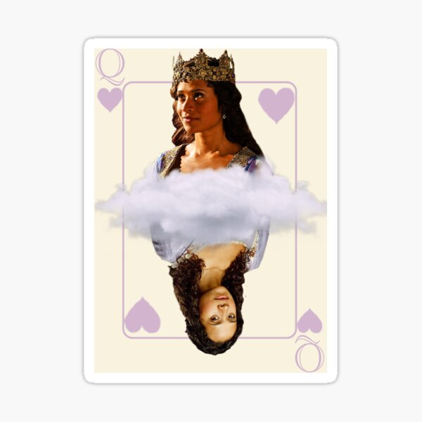 Guinevere Queen Of hearts Playing Card Sticker