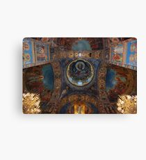 Internal, The Cathedral of Our Saviour on Spilled Blood, St Petersburg Canvas Print