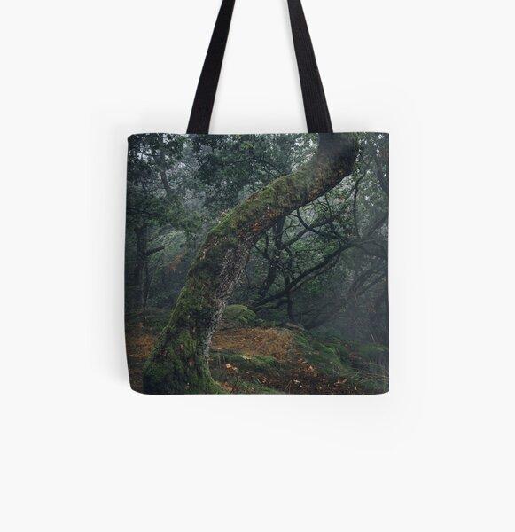 Gold und Grün Allover-Print Tote Bag