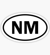 New Mexico - NM - oval sticker and more Sticker