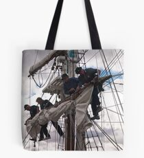 Foresail replacement - Lady Nelson Tote Bag